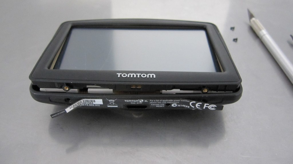 Tomtom XL ouvert
