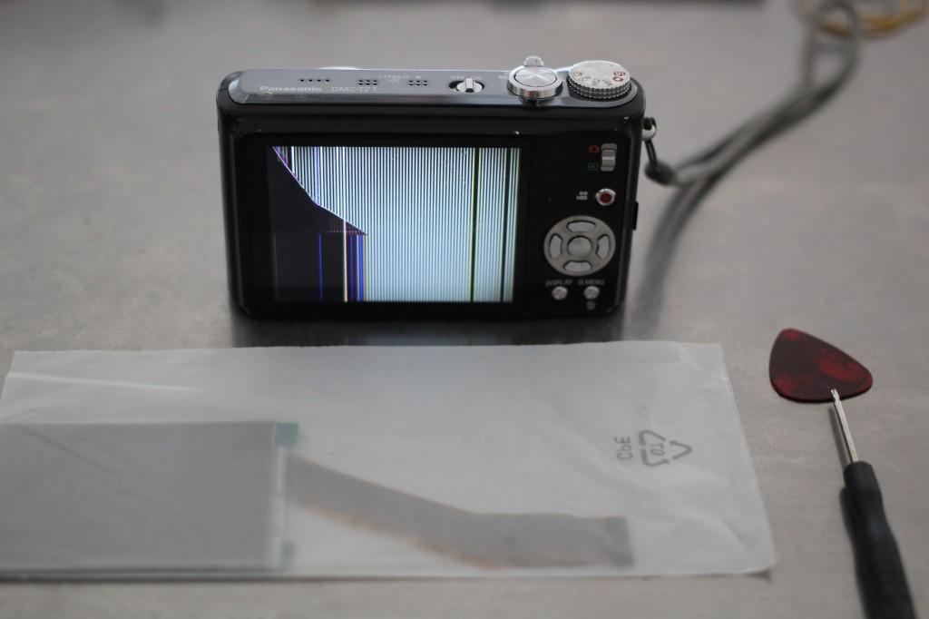 Un écran cassé sur un lumix TZ7